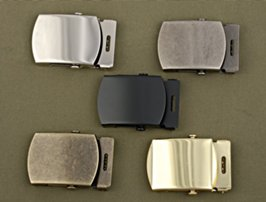 selection of plain military style buckles